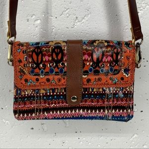 SAKRoots BOHO Coated Canvas Crossbody Bag
